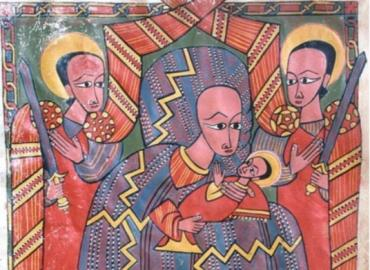 Medieval Ethiopian Drawing of the Virgin Mary