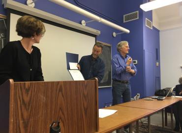Committee of Justin Haynes receiving award on his behalf