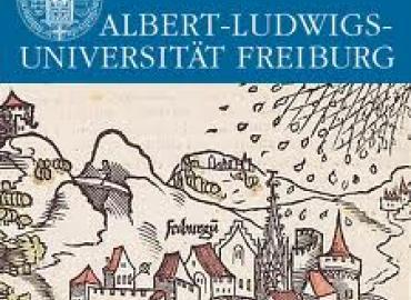 Medieval drawing of Freiburg buildings
