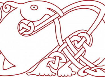 Anglo-Saxon Drawing of Dragon