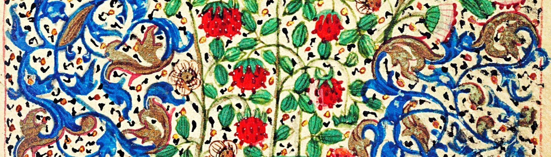 Floral images from Christies manuscript