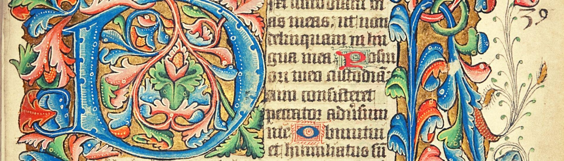 Illuminated Page from St Andrew's Psalter